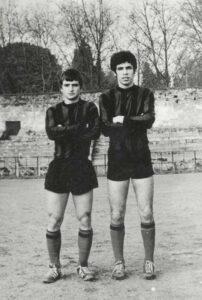 1972 yılında Şeref Stadı'nda Eşref Biryıldız ile birlikte