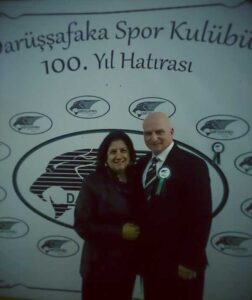 DSK 100. Yılı kutlaması sırasında eşim, Refiye Altay'la birlikte